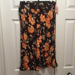 NWT Jones New York Bright Floral Midi Skirt